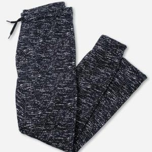 BLACK PRINTED SPACE DYE JOGGER